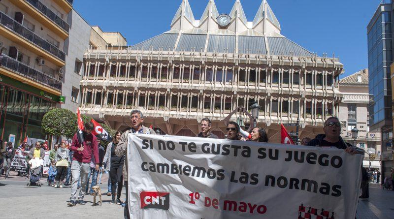 """La CNT se manifiesta en Ciudad Real pidiendo """"Orgullo y dignidad obrera"""""""
