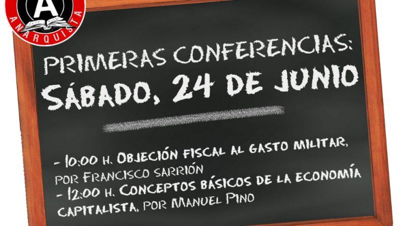 PRIMERAS CONFERENCIAS DE LA ESCUELA ANARQUISTA